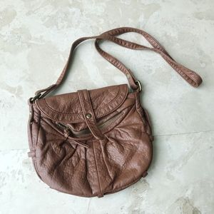 Urban Outfitters Brown Leather-Like Crossbody Bag